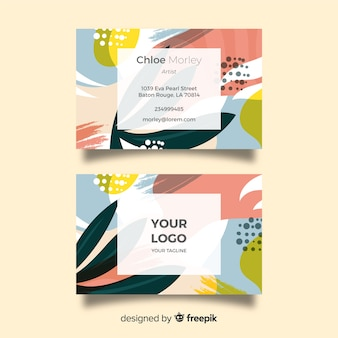 Modèle de carte de visite peint abstrait