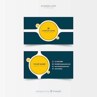 Modèle de carte de visite plat