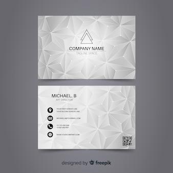 Modèle de carte de visite polygonale abstraite