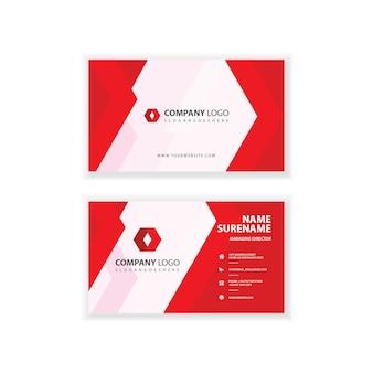 Modèle de carte de visite professionnel de l'entreprise