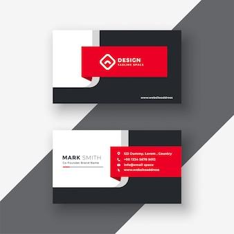 Modèle de carte de visite professionnelle créative rouge
