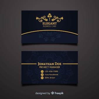 Modèle de carte de visite professionnelle dans un style élégant
