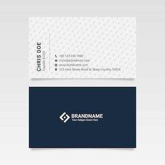 Modèle de carte de visite professionnelle de l'entreprise en noir et blanc