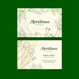 Modèle de carte de visite professionnelle pour boutique de légumes