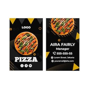 Modèle de carte de visite de restaurant de pizza