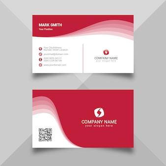 Modèle de carte de visite rouge abstrait