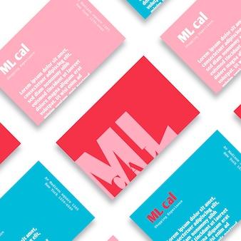 Modèle de carte de visite simpliste coloré