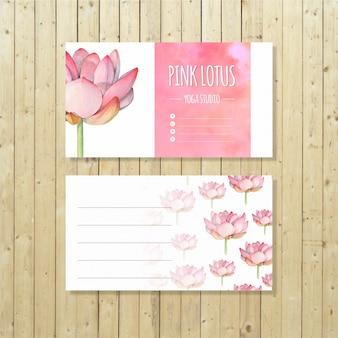 Modèle de carte de visite de studio de yoga de lotus