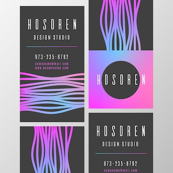 Modèle de carte de visite style abstrait coloré