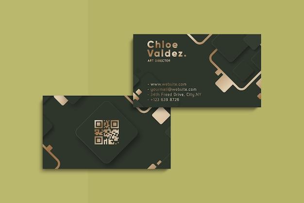 Modèle de carte de visite de style doré