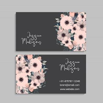 Modèle de carte de visite de style floral