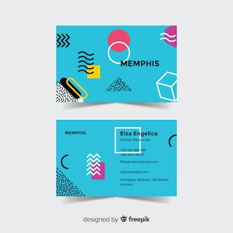 Modèle de carte de visite de style memphis