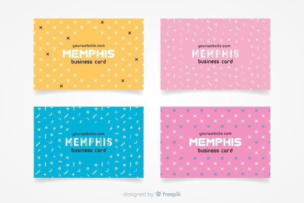 Modèle de carte de visite style memphis