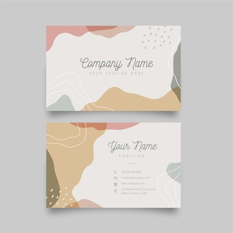 Modèle de carte de visite avec des taches de couleur pastel