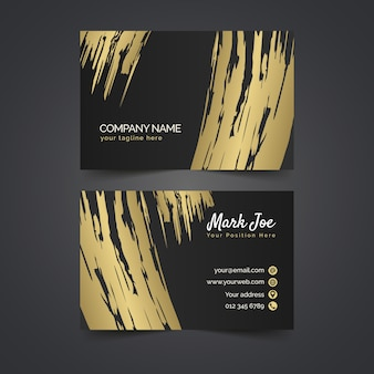 Modèle de carte de visite de taches d'or