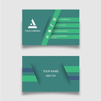 Modèle de carte de visite verte