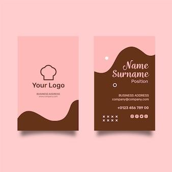 Modèle de carte de visite verticale de cookies ad