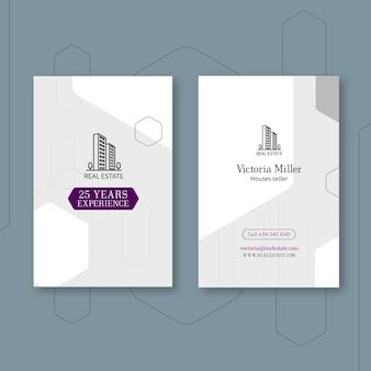 Modèle de carte de visite verticale immobilière
