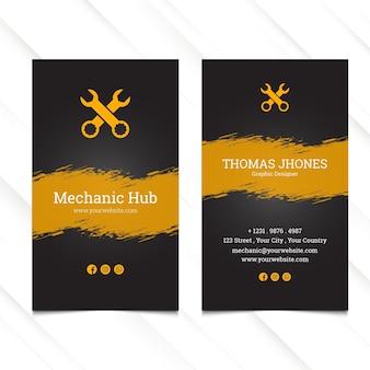 Modèle de carte de visite verticale de moyeu mécanique