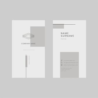 Modèle de carte de visite verticale, style minimal