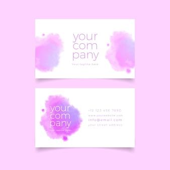 Modèle de carte de visite de votre entreprise avec des couleurs pastel violettes