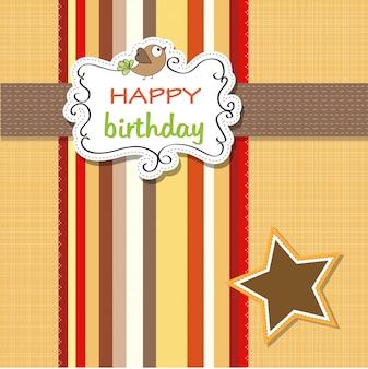 Modèle de carte de voeux d'anniversaire