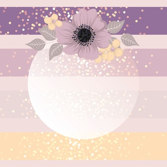Modèle de carte de voeux de fleurs.