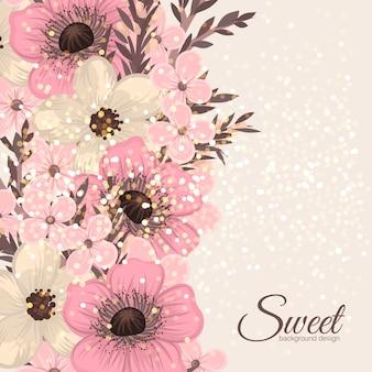 Modèle de carte de voeux floral.