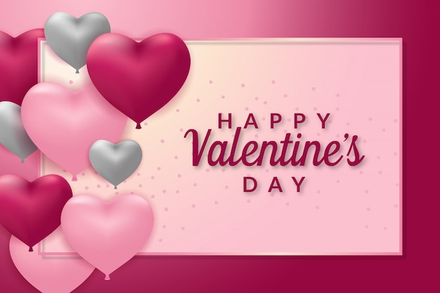 Modèle de carte de voeux happy valentines day