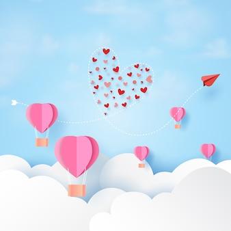 Modèle de carte de voeux happy valentines day.