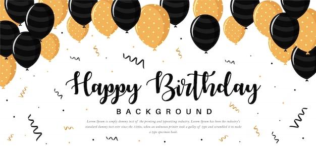 Modèle de carte de voeux joyeux anniversaire