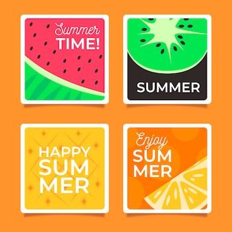 Modèle de cartes d'été