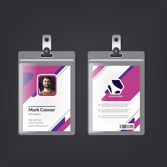 Modèle de cartes d'identité de conception minimale