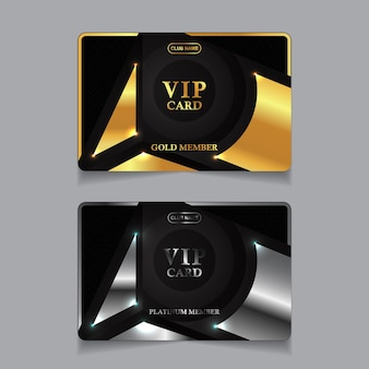 Modèle De Cartes D'identité De Luxe Vecteur Premium