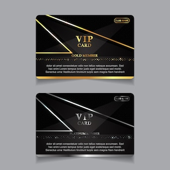 Modèle de cartes d'identité de luxe