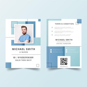 Modèle de cartes d'identité minimaliste avec photo