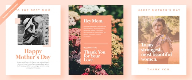 Modèle de cartes postales de la fête des mères