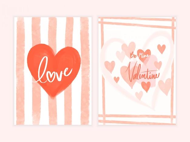 Modèle de cartes de saint valentin.