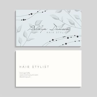 Modèle de cartes de visite abstraites avec décoration florale