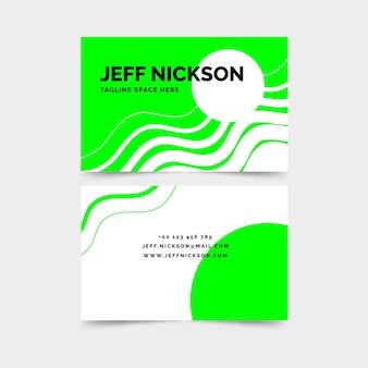 Modèle de cartes de visite au néon