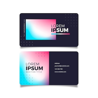 Modèle de cartes de visite dégradé coloré