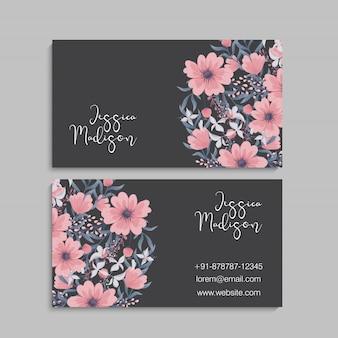 Modèle de cartes de visite fleur