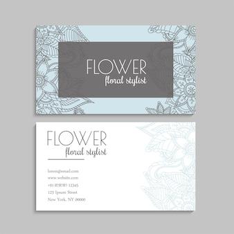 Modèle de cartes de visite de fleurs