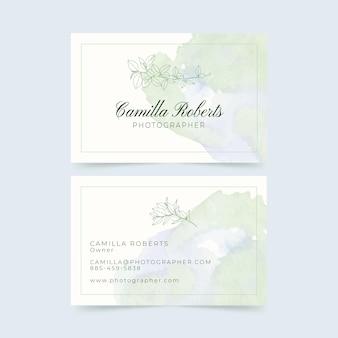 Modèle de cartes de visite florales dessinées à la main
