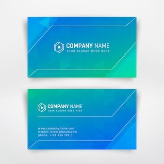 Modèle de cartes de visite modernes bleus