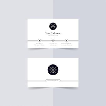 Modèle de cartes de visite modernes