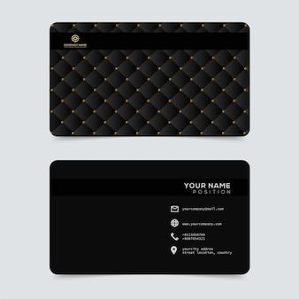 Modèle de cartes de visite en or luxueuses et élégantes