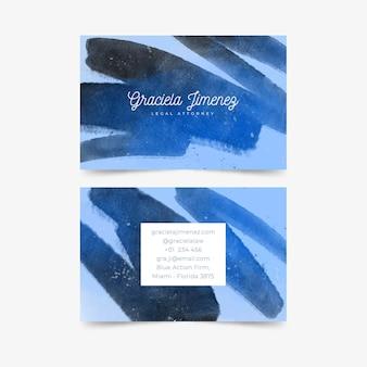 Modèle de cartes de visite peintes à la main