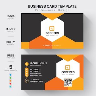 Modèle de cartes de visite professionnelles avec variation de couleur