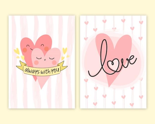 Modèle de cartes de voeux saint valentin.